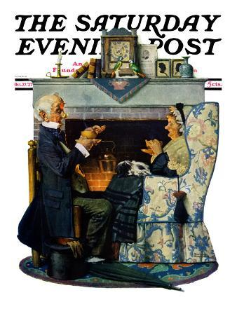 """Tea for Two"" or ""Tea Time"" Saturday Evening Post Cover, October 22,1927"