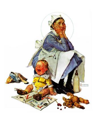 """Exasperated Nanny"", October 24,1936"