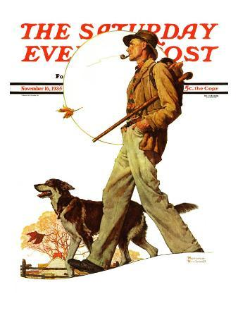 """Autumn Stroll"" Saturday Evening Post Cover, November 16,1935"