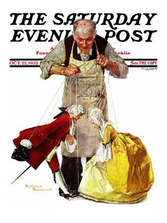 """""""Marionettes"""" Saturday Evening Post Cover, October 22,1932"""