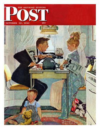 """Dewey v. Truman"" Saturday Evening Post Cover, October 30,1948"