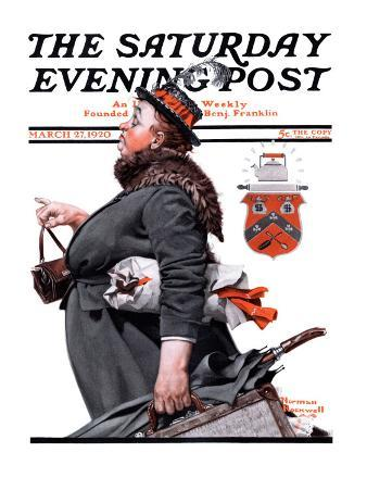 """Housekeeper"" Saturday Evening Post Cover, March 27,1920"