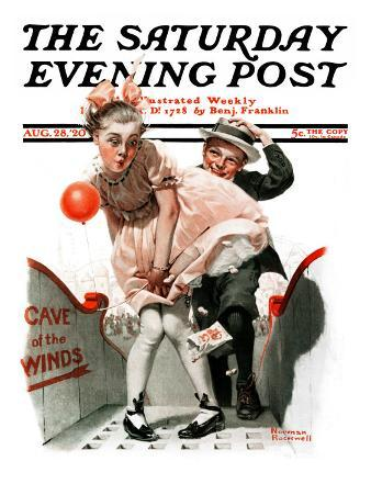 """Cave of the Winds"" Saturday Evening Post Cover, August 28,1920"