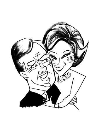 Jimmy and Rosalynn Carter - Cartoon
