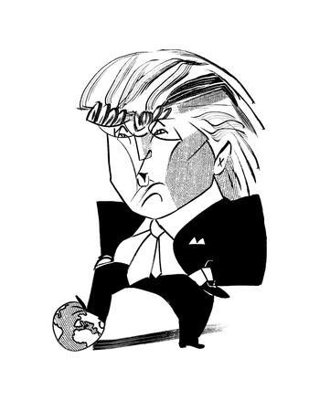 Donald Trump Globe - Cartoon
