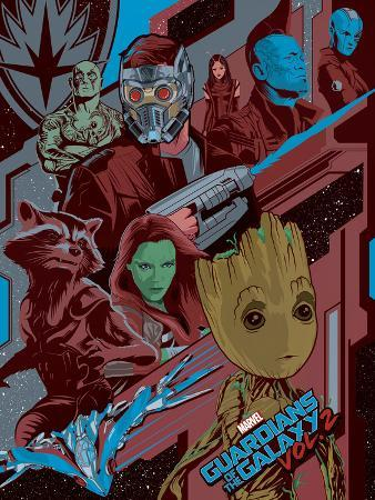 Guardians of the Galaxy: Vol. 2 - Drax, Star-Lord, Mantis, Nebula, Rocket Raccoon, Gamora, Groot