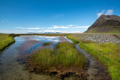 Beautiful Landscape, River in Wild Iceland