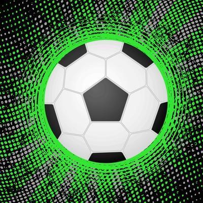 Abstract Grunge Soccer. Illustration
