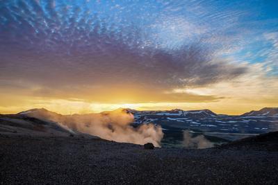 Geothermal Hot Springs, Mud Pots and Fumaroles, Namaskard Close to Lake Myvatn, Northern, Iceland