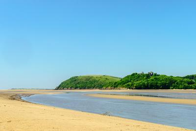 Ferryside Beach, the Coast of Carmarthenshire, Showing the Estuary of the River Tywi