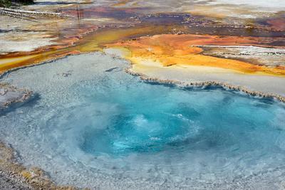 Firehole Spring, Firehole Lake Drive, Lower Geyser Basin, Yellowstone National Park, Wyoming, USA