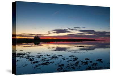 Sunset Blue Hour on the Causeway on Holy Island, Northumberland England UK