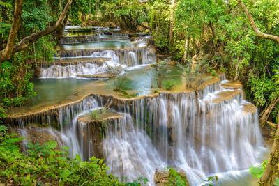 Waterfall in Kanchanaburi Province, Thailand