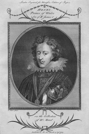 Henry, Prince of Wales, son of King James I, 1784