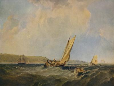 Blowing Hard-Off Cowes, 1834