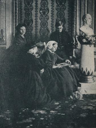 The Queen, with the Prince of Wales, the Princess Royal and the Princess Alice, in 1862, c1862, (1