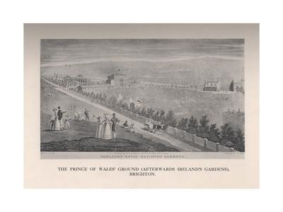The Prince of Wales Ground (afterwards Irelands Gardens), Brighton, Sussex, 19th century (1912)