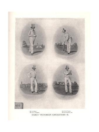 Early Victorian cricketers, 19th century (1912)