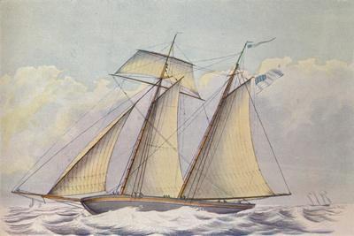 American Topsail Schooner, 1825