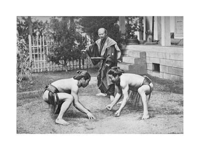 Japanese Wrestlers Ready for a Go, c1902, (1903)