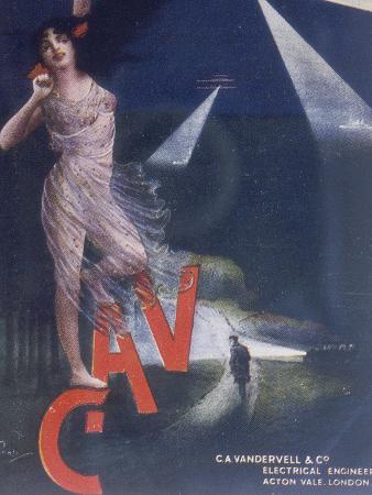 Poster advertising Vandervell