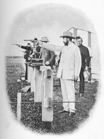 Mr. Winans Shooting At Bisley, c1903, (1903)
