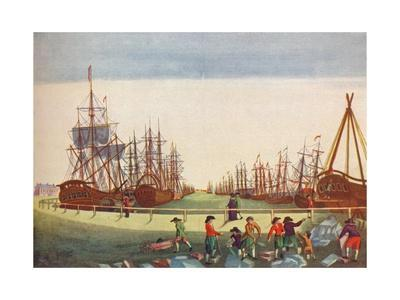 Whaling Ships at Kingston On Hull, c1780