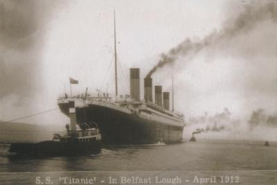 S.S. Titanic - In Belfast Lough - April 1912, 1912