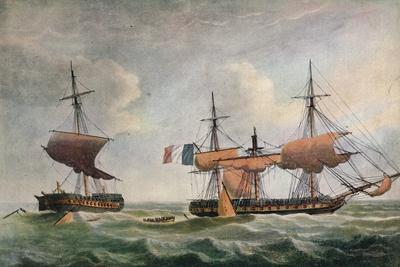La Piemontaise capturing the Warren Hastings c1806