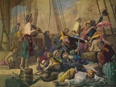 Pirates Decoying an American Ship, c1880