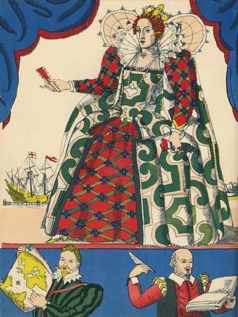 Elizabeth I, Queen of England from 1558, (1932)