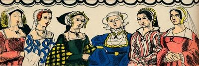 Portraits of Henry VIIIs six wives from 1509, (1932)