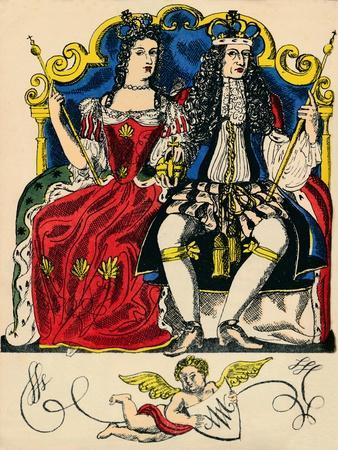 William III and Mary II, King and Queen of Great Britain and Ireland from 1688, (1932)