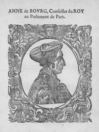 Anne de Bourg, Conseiller du Roy au Parlement de Paris, c18th century