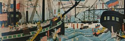 European Ships in a Japanese Harbour, c1860