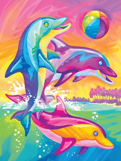 Brushstoke Dolphins Prints By Lisa Frank At Allposterscom