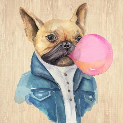 A Blowing Bubble French Bulldog