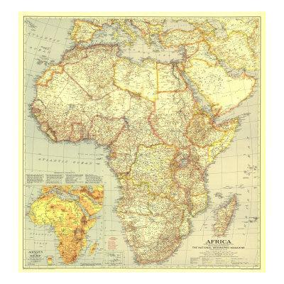 1935 Africa Map