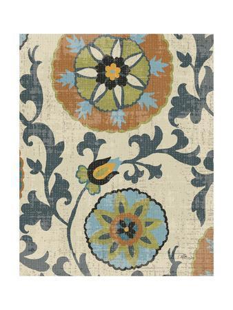 Persian Patchwork Blue Brown Tile II