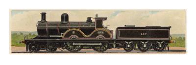 Locomotive 1093 of the Lancashire and Yorkshire Railway