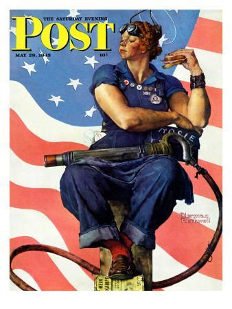 """""""Rosie the Riveter"""" Saturday Evening Post Cover, May 29,1943"""