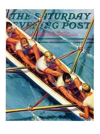 """Scullers,"" Saturday Evening Post Cover, June 25, 1938"