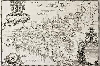 Old Map Of Sicily