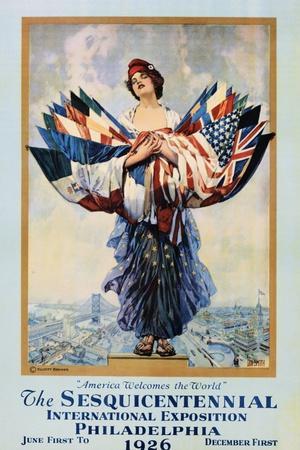 The Sesquicentennial International Exposition - Philadelphia 1926 Poster