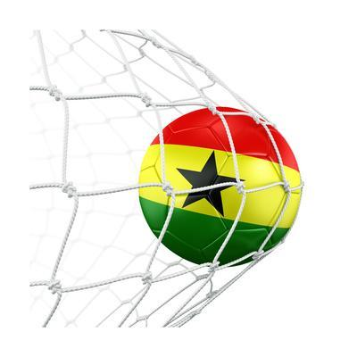 Ghanaian Soccer Ball in a Net
