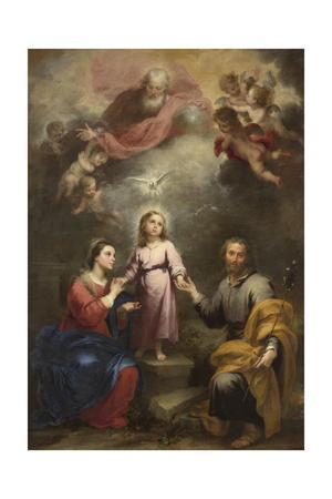 The Heavenly and Earthly Trinities (The Pedroso Murill), C. 1680