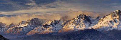 Peaks and Glaciers in the Palisades Area, Eastern Sierra Nevada