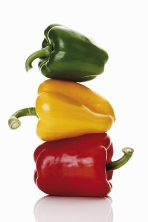 One Red, One Yellow and One Green Pepper, Stacked