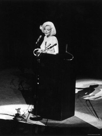 "Marilyn Monroe Singing ""Happy Birthday"" at Democratic Rally for President John F Kennedy's Birthday"