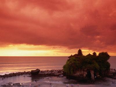 Tanah Lot, Sea Temple, at Sunset, Bali, Indonesia